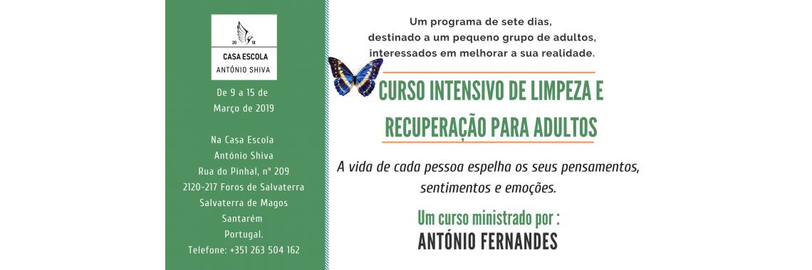 Curso intensivo de limpeza – 9 a 15 de Março de 2019