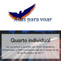Participação na 1ª Convenção Internacional de Saúde Integral - Asas para Voar (Quarto individual)