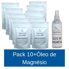 Cloreto de Magnésio PA - Pack 10+Óleo de Magnésio (10 embalagens com oferta de 1 Óleo de Magnésio)